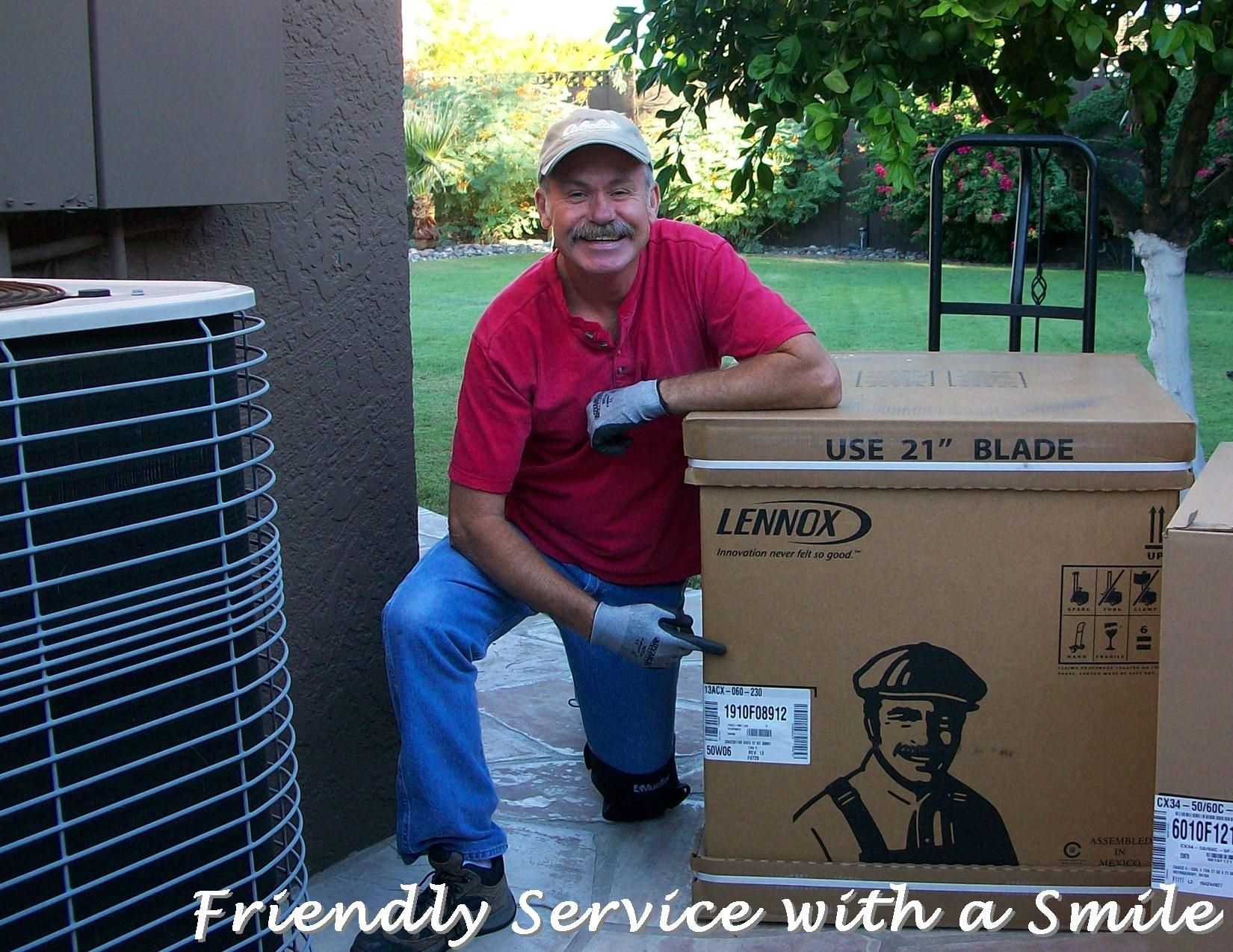 Friendly Service with a Smile (Chuck resembles Dave Lennox