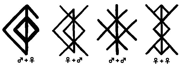 bind runes love charms runes rune tattoo. Black Bedroom Furniture Sets. Home Design Ideas