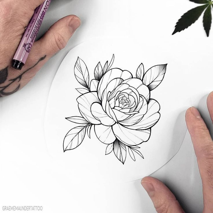 Photo of New Flash (Taken) Simple Rose Do you like bigger or # 3dtä #tattoo
