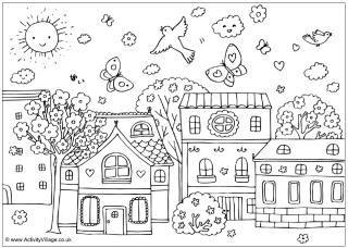 Spring Met Afbeeldingen Kleurplaten Kleurplaten Voor Kinderen
