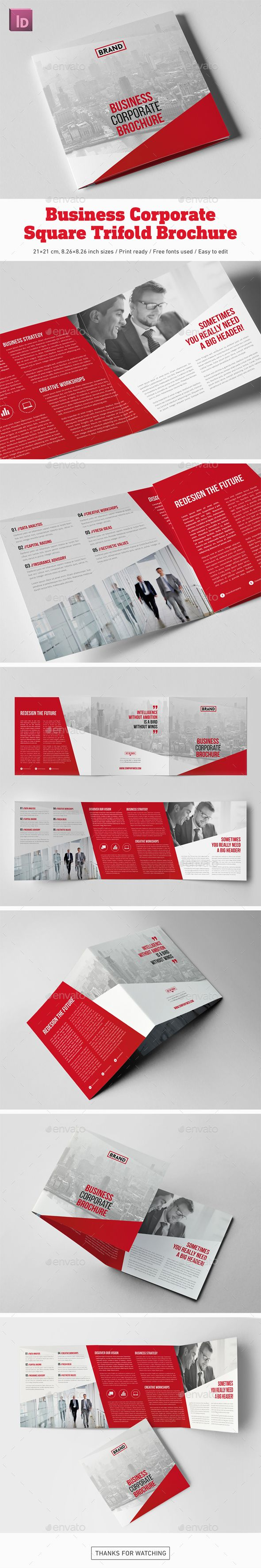 business corporate square trifold brochure pinterest corporate