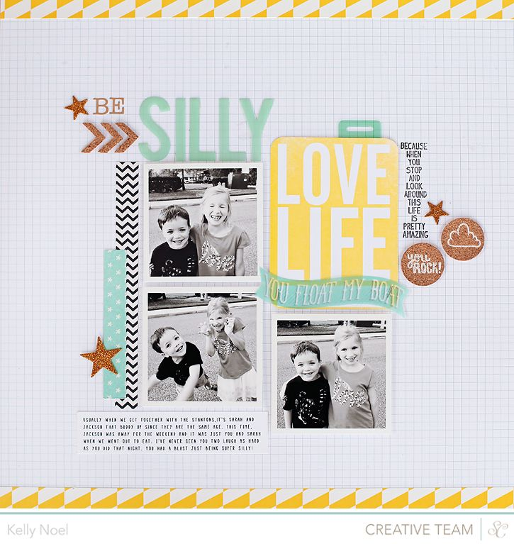 papercraft #scrapbooking #layout - Be Silly - Studio Calico Atlantic ...