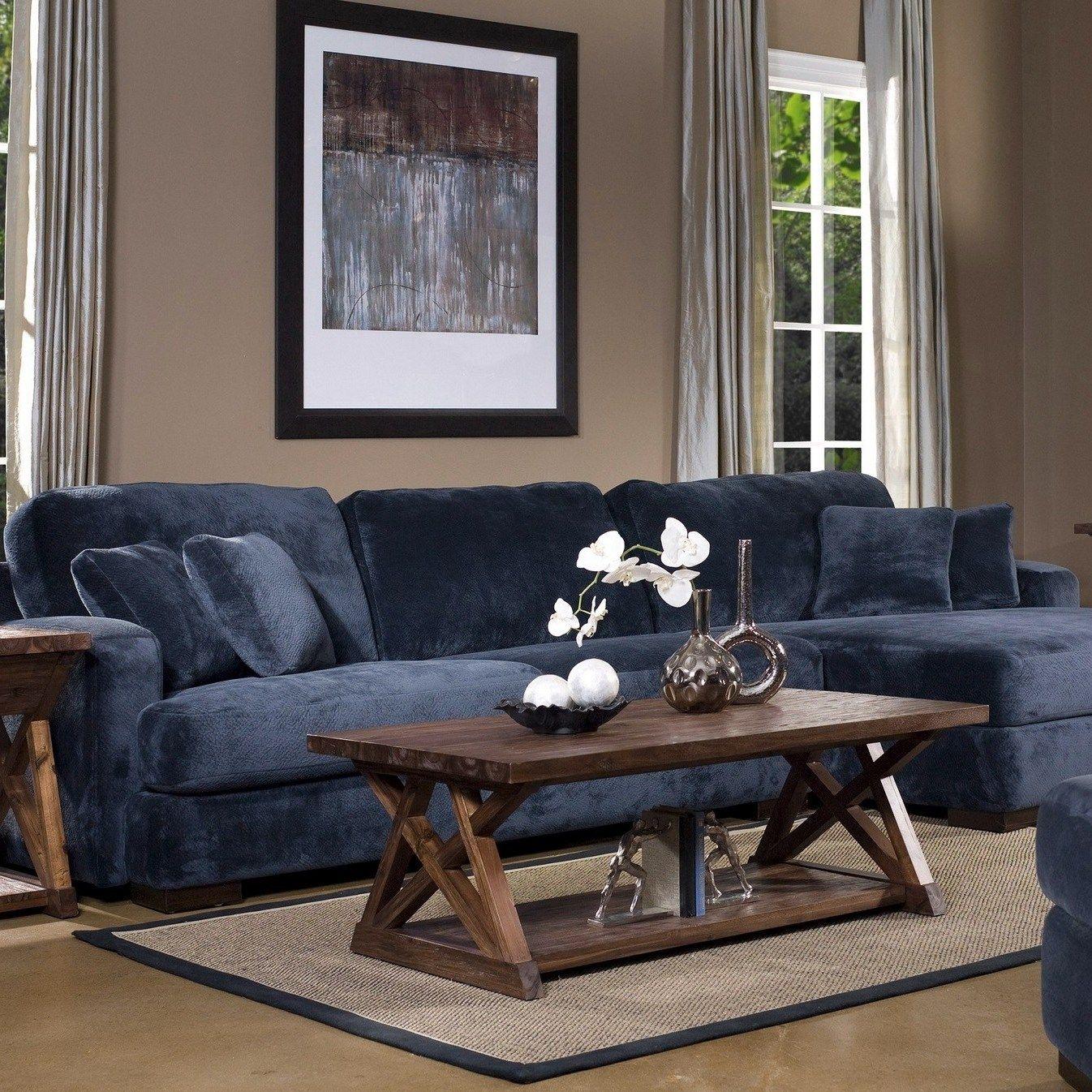 15 Beautiful Dark Blue Wall Design Ideas   Brown living room, Living room grey, Living room paint