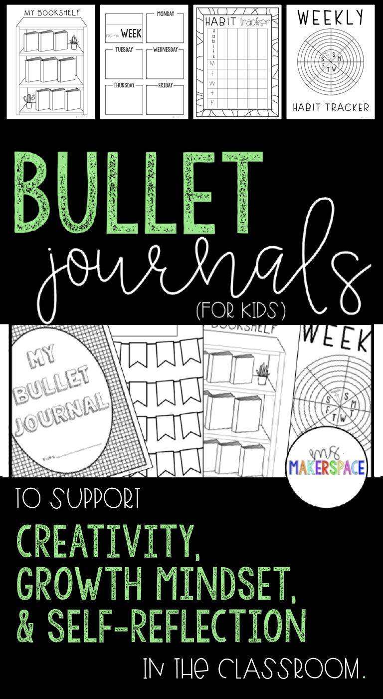 Creative Reflection Journals Bullet Journals for Kids