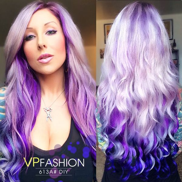 Diy dye your hair with white blonde indian remy clip in hair diy dye your hair with white blonde indian remy clip in hair extensions ds613a pmusecretfo Choice Image
