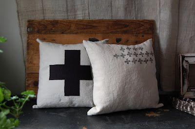 little grey crosses...