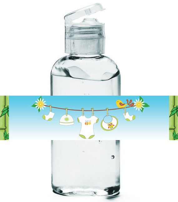 Printable Hand Sanitizer Favor Labels Napkin By Theposhbabyshower