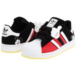 Disney Adidas Kids Superstar Mickey Mouse Kids Shoes Black