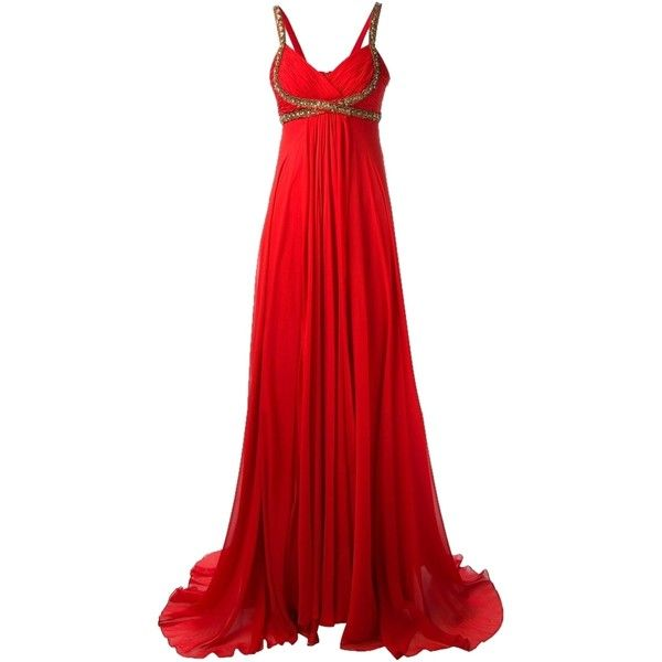 Pre-owned Burgundy/wine Maxi Dress (1.253.040 COP) ❤ liked on ...