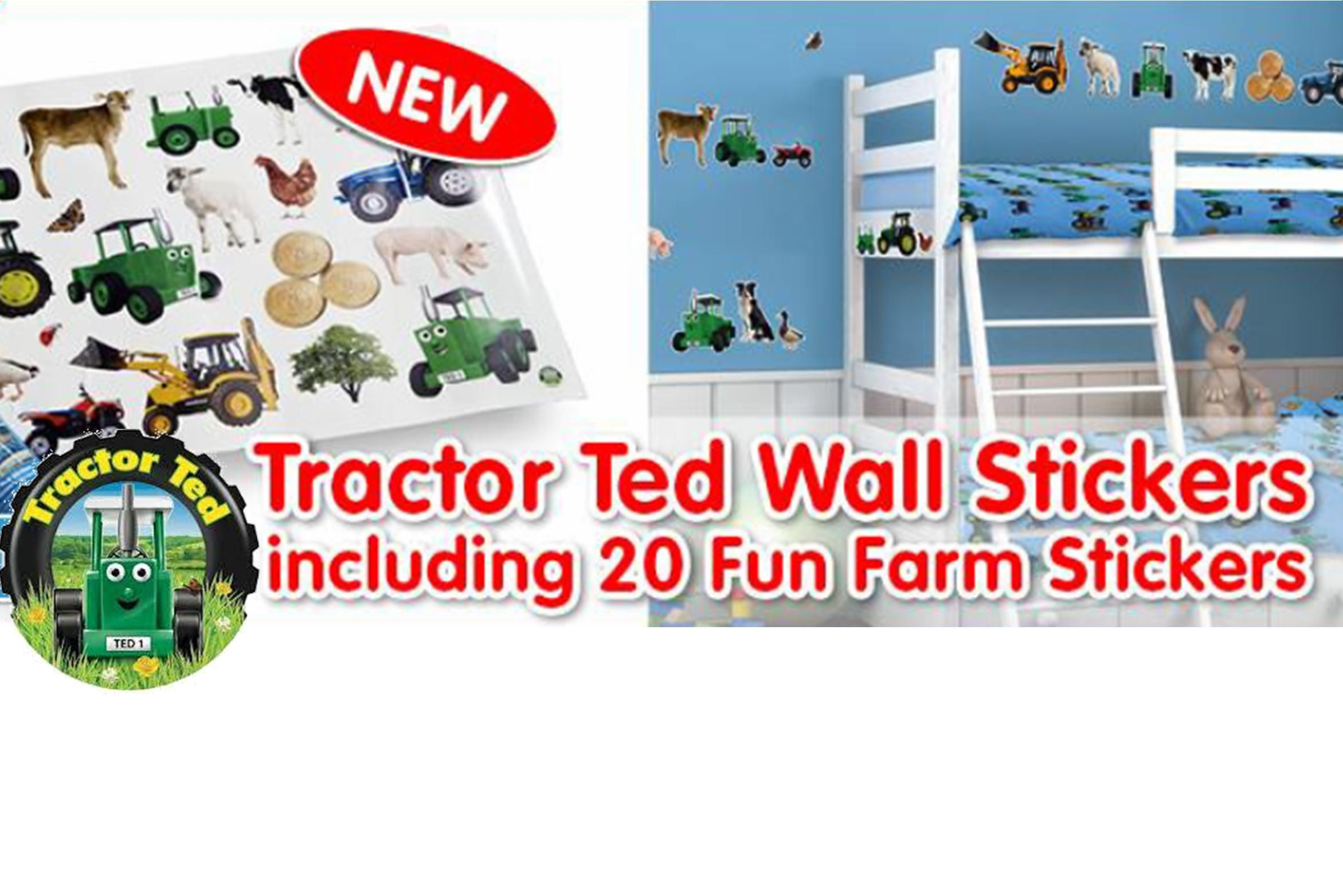 NEW Tractor Ted Wall Stickers http://www.tincknellcountrystore.co.uk/search.asp?search=tractor+ted&refpage=all