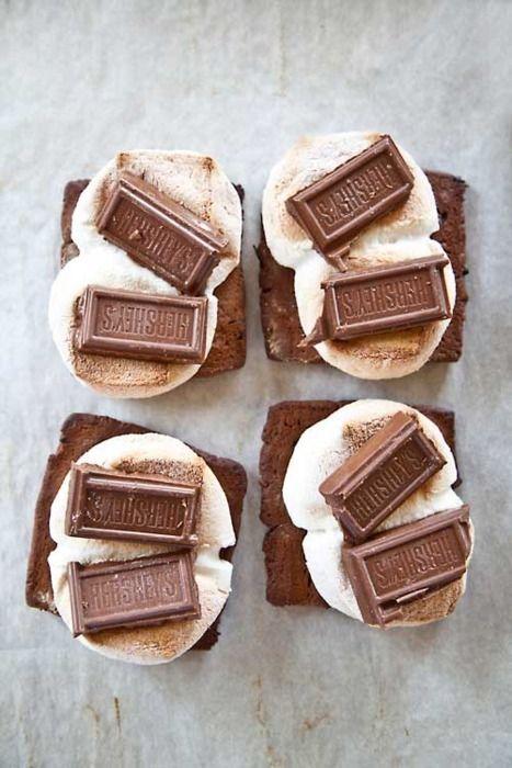 smores atop brownies :)