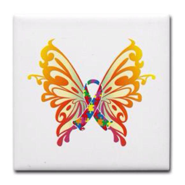 CafePress Autism Butterfly Ribbon Zip Hoodie