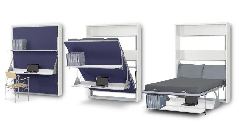 Lit Escamotable Bureau Lit Bureau Pliable 2 Places Matrix Gagnez Du Rangement Sur Mobilier Idees De Decoration Interieure Bureau Escamotable