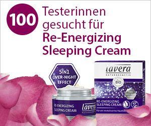 Du bist auf der Suche nach dem berühmten Schönheitsschlaf? Dann bist Du hier genau richtig! Zusammen mit lavera suchen wir 100 Testerinnen für die lavera Re-Energizing Sleep Cream. Bewirb Dich jetzt!