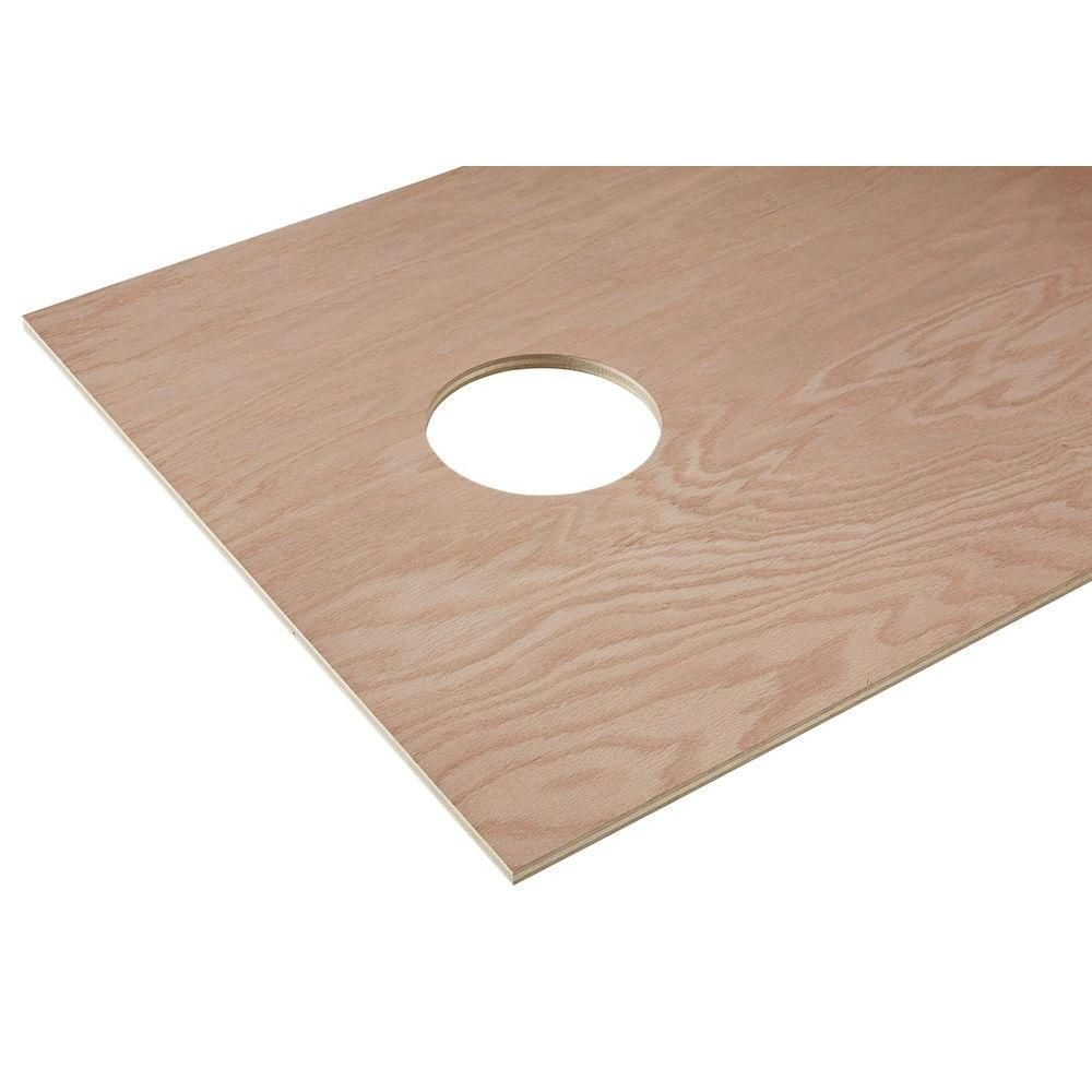 Home Depot Exterior Plywood: PureBond 1/2 In. X 2 Ft. X 4 Ft. Red Oak Plywood Corn Hole