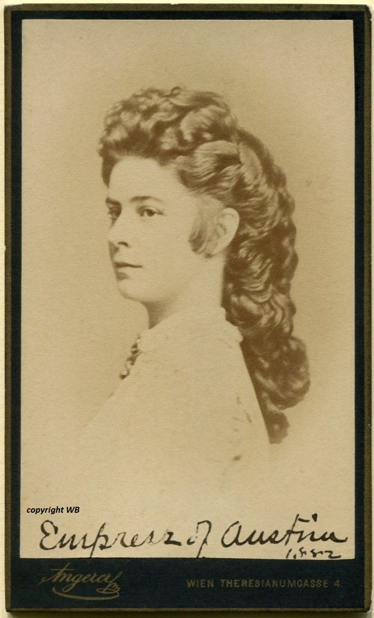 Elisabeth (Sisi), Empress of Austria and Queen of Hungary, cdv by ...