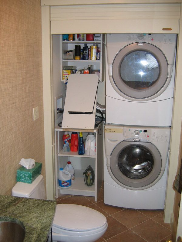 Laundry Closet with Roll-Up Door