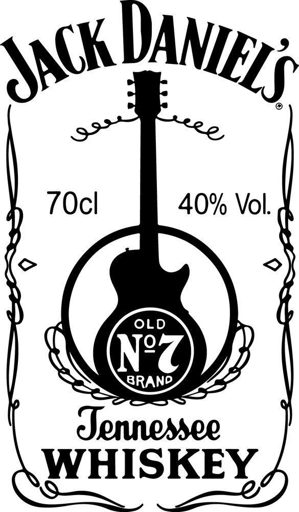 Sticker Jack Daniel S Guitare