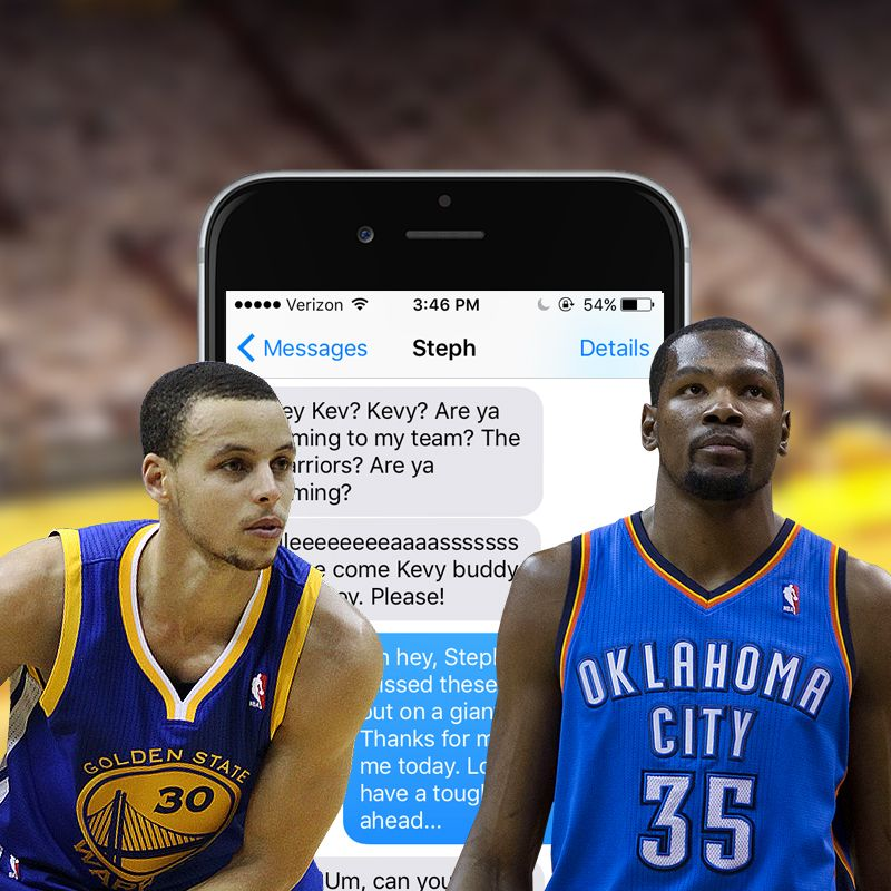 It was Steph Curry\u0027s text messages that finally convinced Kevin Durant to  sign with the Golden