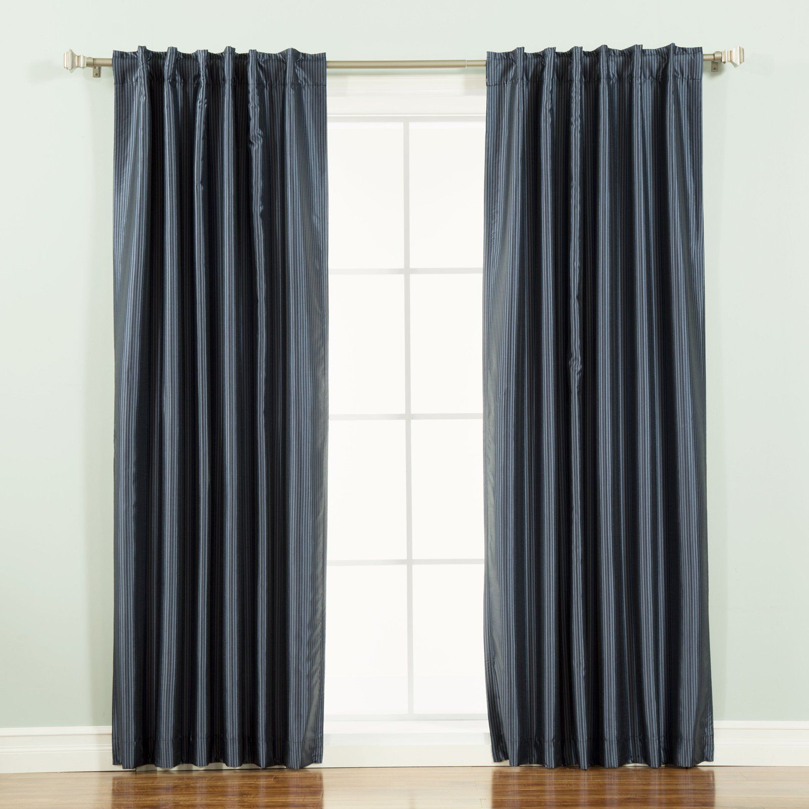 Best Home Fashion Faux Silk Candy Stripe Blackout Curtain Panel Sage Panel Curtains Colorful Curtains Thermal Curtains