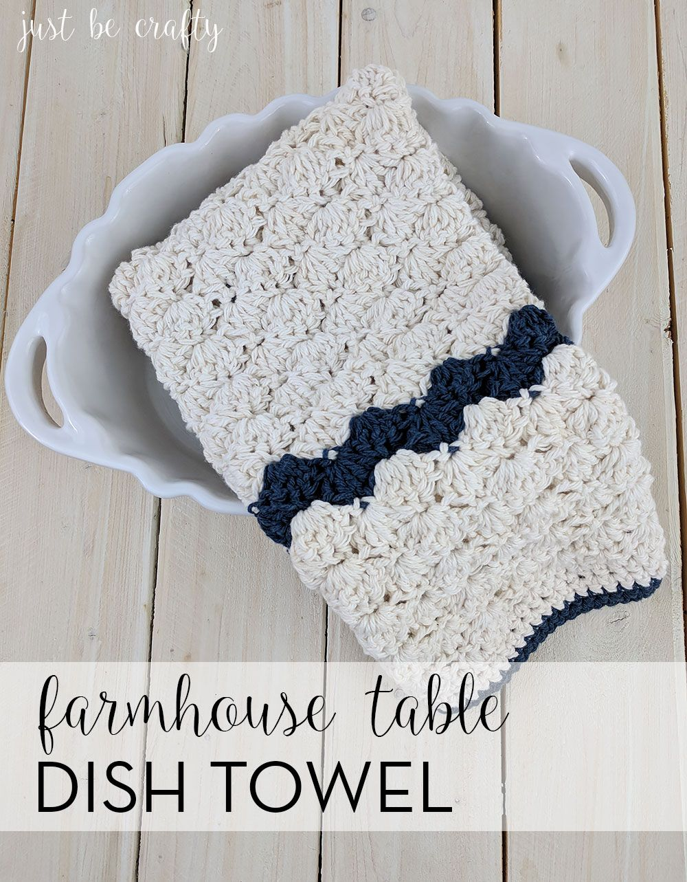 Crochet Farmhouse Table Dish Towel Pattern | Pinterest | Tejido
