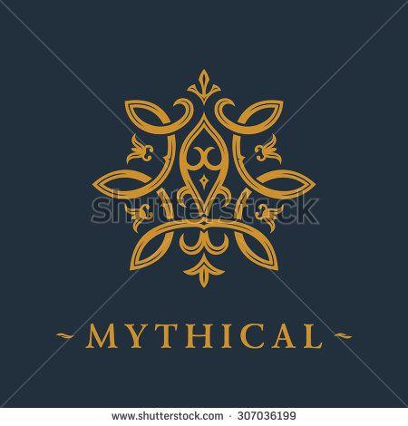 Calligraphic luxury symbol. Emblem ornate decor elements ...