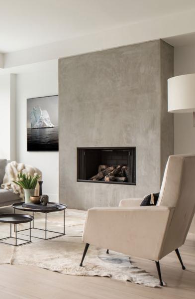 wundersch ner integrierter kamin minimalistisch und chic wohnzimmer einrichtung pinterest. Black Bedroom Furniture Sets. Home Design Ideas