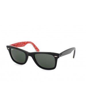 Ray-Ban Wayfarer RB 2140 1016 noir   rouge rayban Wayfarer lunettes pas cher 9da27b61ff6e