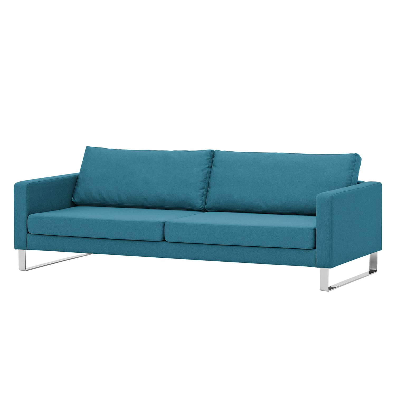 Sofa Portobello 3 Sitzer Webstoff Kufen Stoff Ramira Türkis