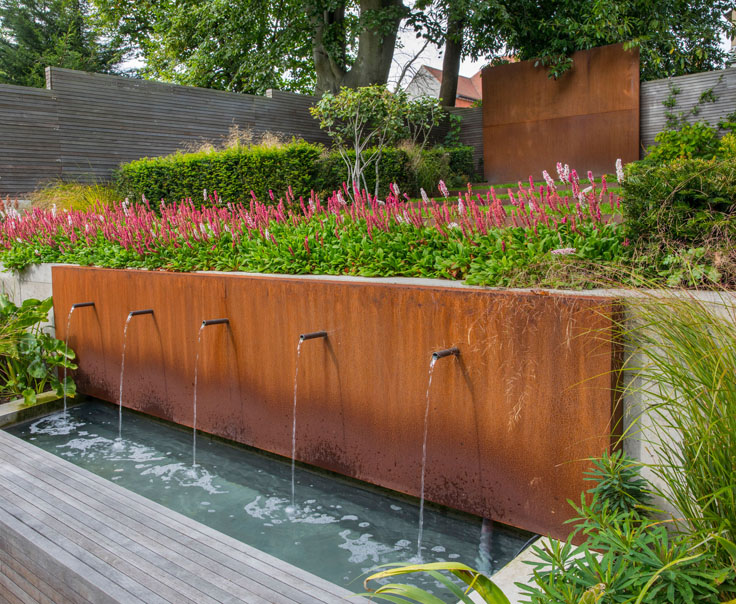 Diy Build A Water Feature From A Corten Steel Planter 400 x 300