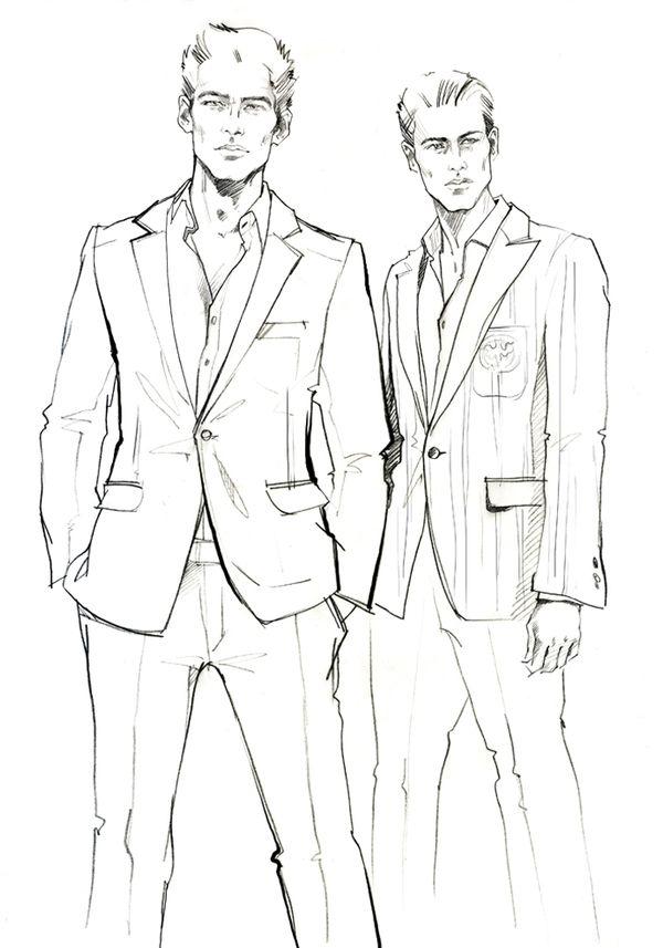 Men\u0027s fashion illustration