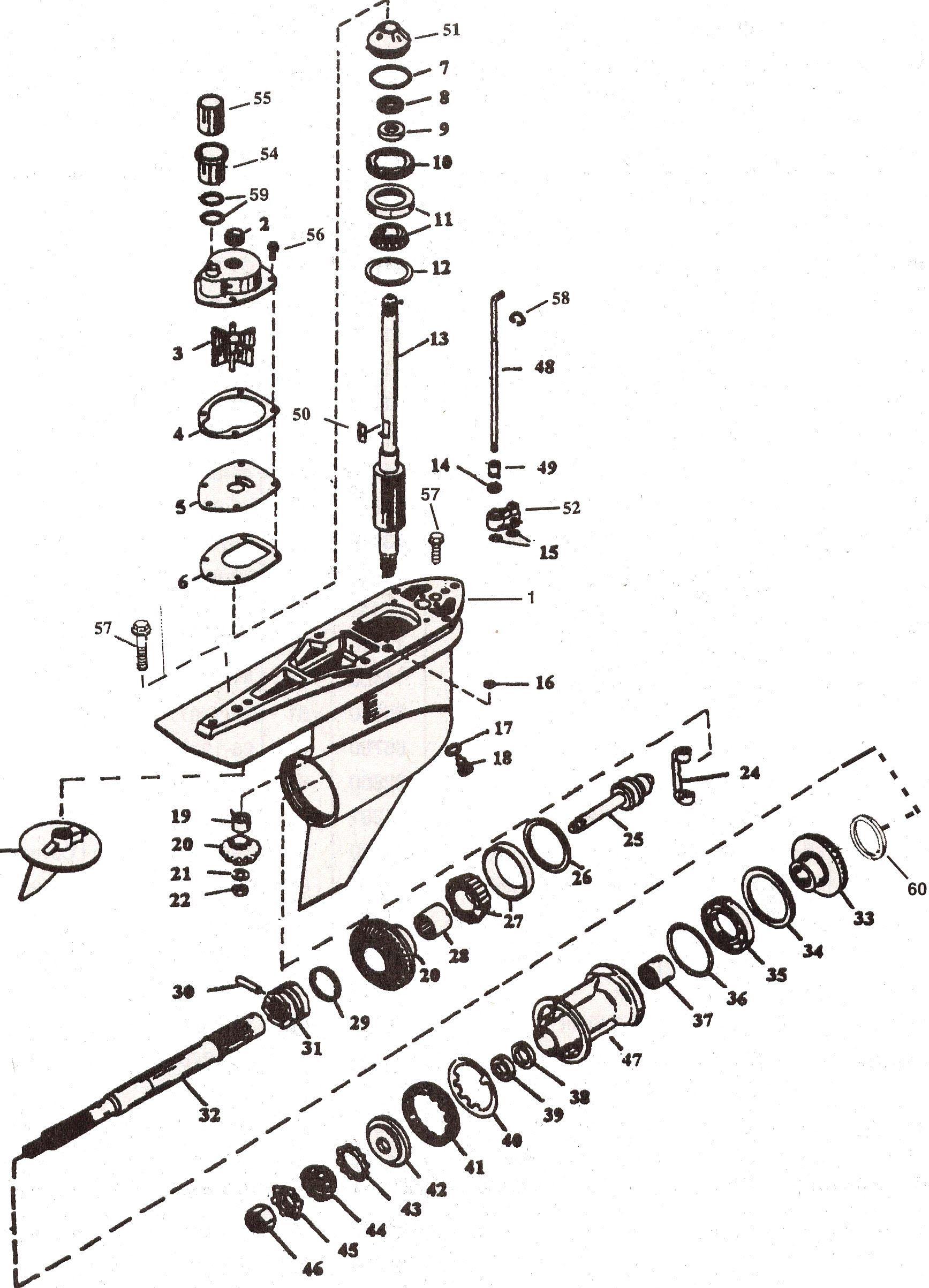 mercruiser alpha 1 generation 2 parts drawing [ 1735 x 2406 Pixel ]