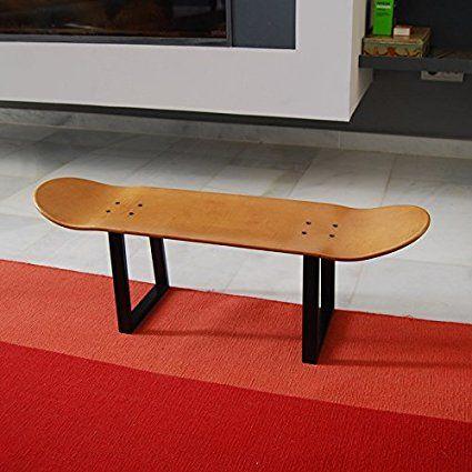 Hocker, Sitz, Hocker Mit Eisernen Beinen Mit Skateboard. Geschenkidee Für  Skateboardfahrer: Amazon.de: Küche U0026 Haushalt
