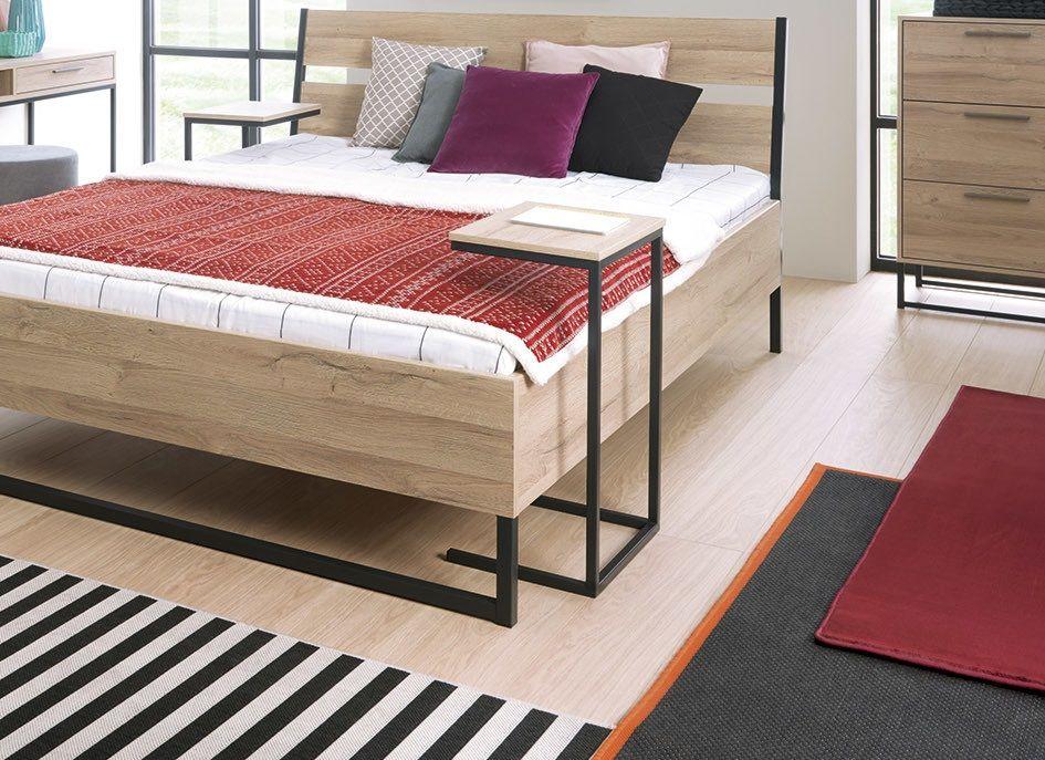 Industrial Urban Bedroom Furniture Metal Wood Storage On