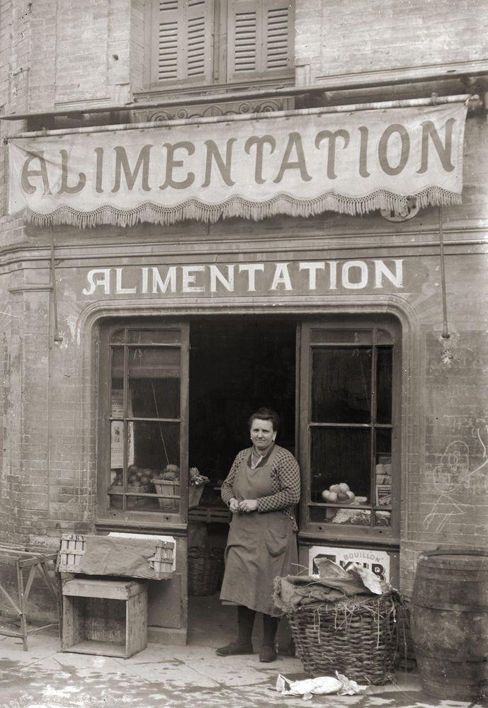 Commerce Epicerie Alimentation Primeurs Toulouse Photo Ancienne