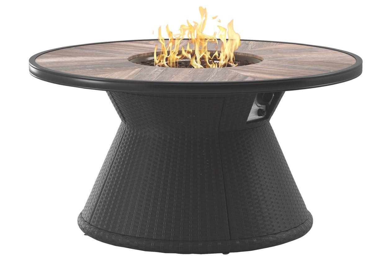 Marsh Creek Round Fire Pit Table Ashley Furniture Homestore
