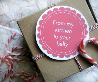 Cuteness! Free printable: From My Kitchen To Your Belly