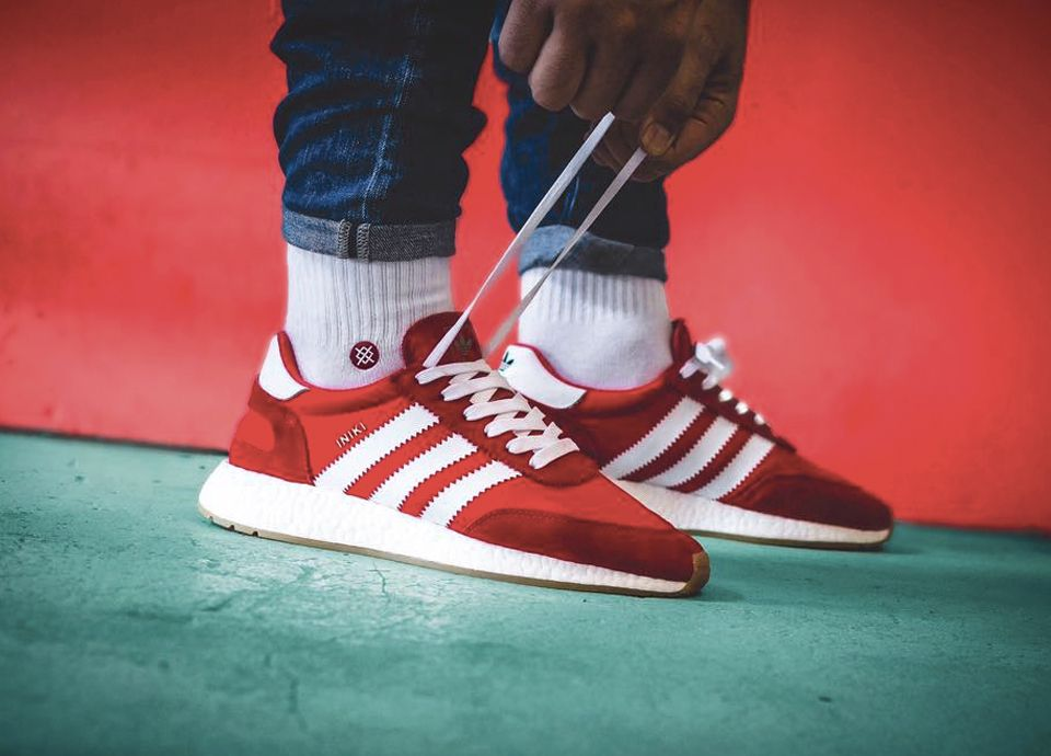 separation shoes 2de36 fdae1 Adidas Iniki Runner Boost - Red - 2017 (by indy.sneakers) Find stores  selling these   Sweetsoles sneakers   Pinterest   Runners, Trainers and  Posts