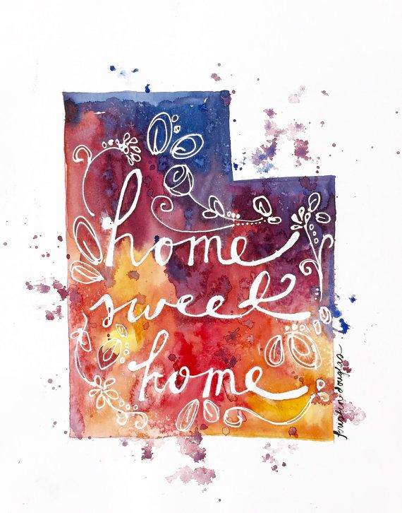 Home Sweet Home Choose Your State Original by KristinDouglasART
