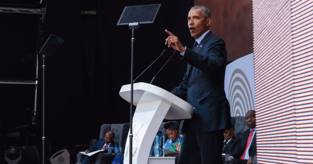 Obama Spoke At Toronto's Convention Centre On Thursday