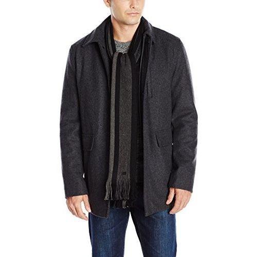 Calvin Klein Mens Wool Scarf Coat