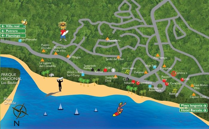 Tamarindo Businesses Find This Pin And More On Costa Rica Maps