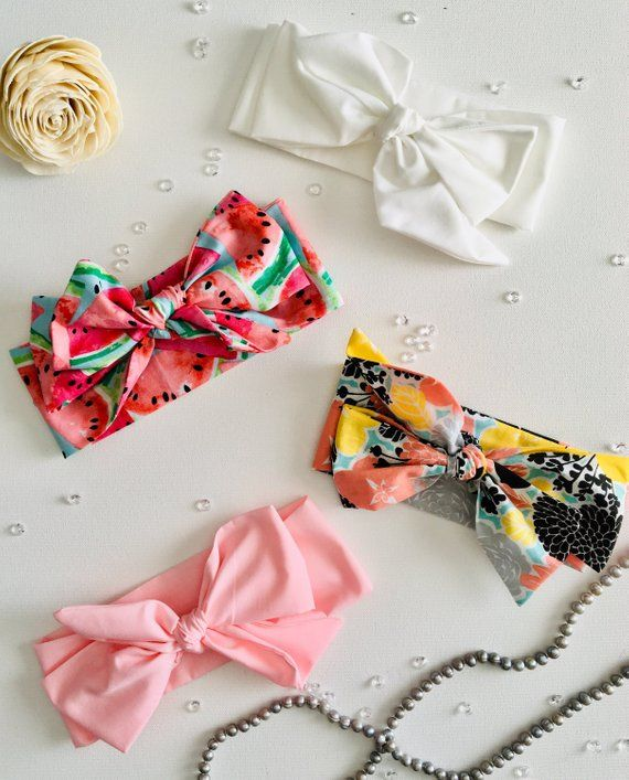 Cotton Adjustable Bow Hairband Baby Girl Headband Head Wraps Hair Accessories