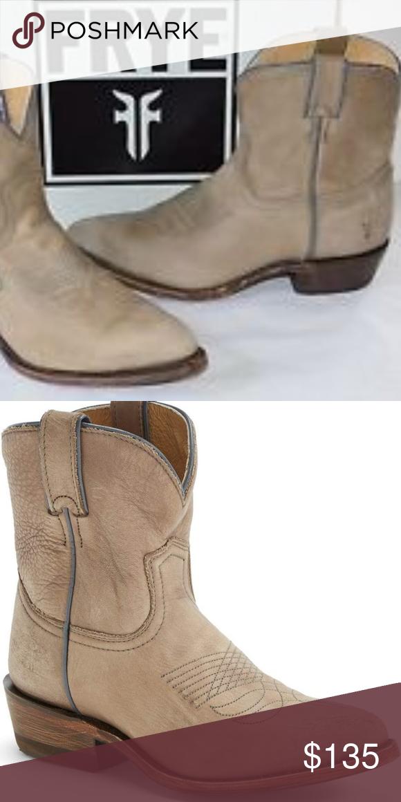 c8ecd9ab130 Frye Billy Short Booties Distressed Gray Size 8.5 EUC Frye Billy Short  Cowboy booties Distressed Neural