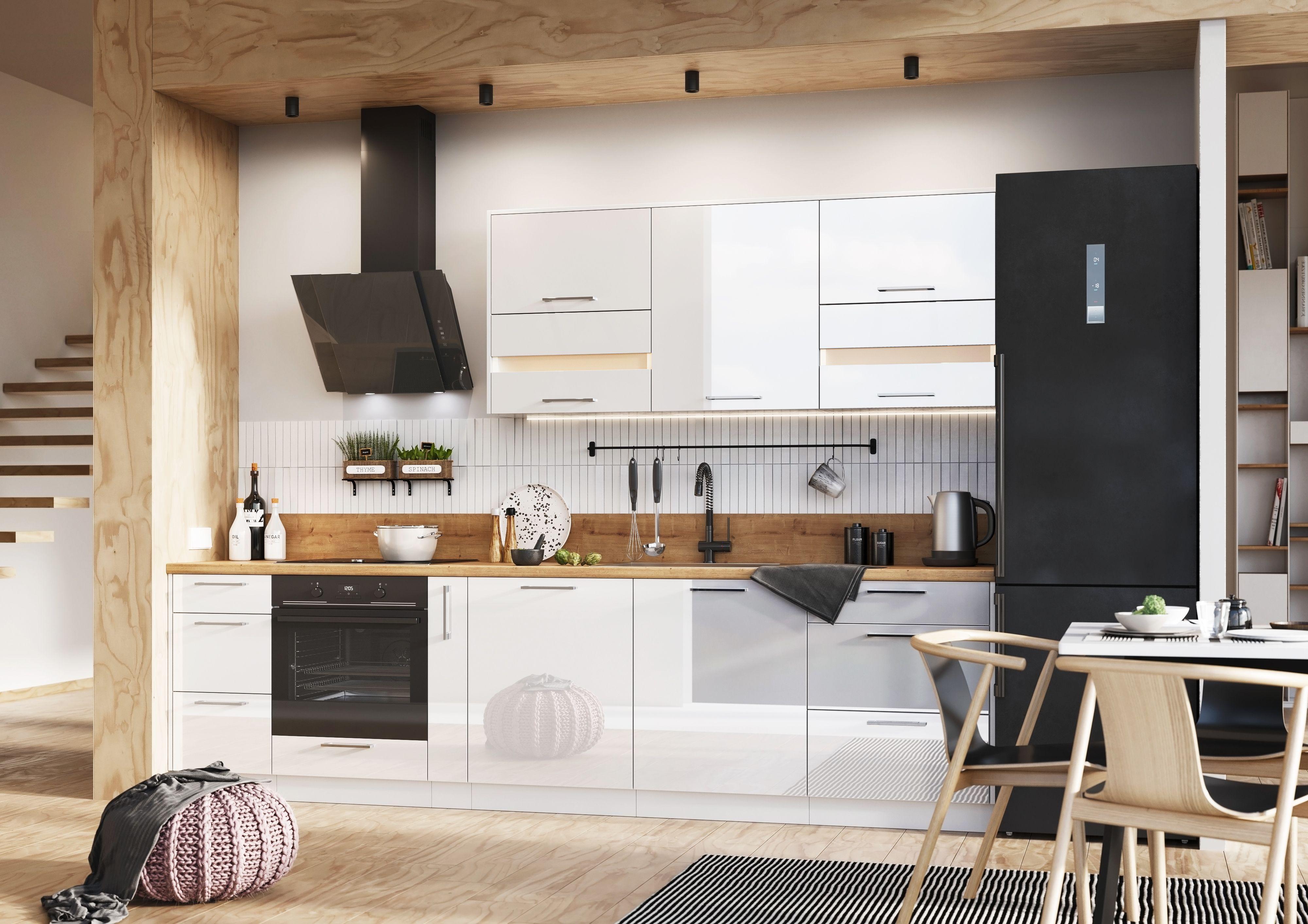Meble Kuchenne Oskar Kuchnia Pod Wymiar Bialy Polysk Kitchen Cabinets Kitchen Furniture