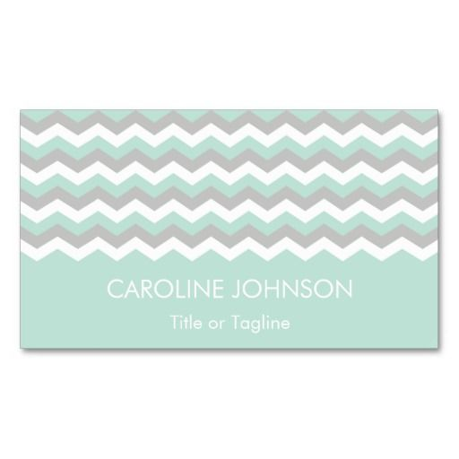 Mint green gray white chevron zigzag stripes business card mint green gray white chevron zigzag stripes business card reheart Gallery