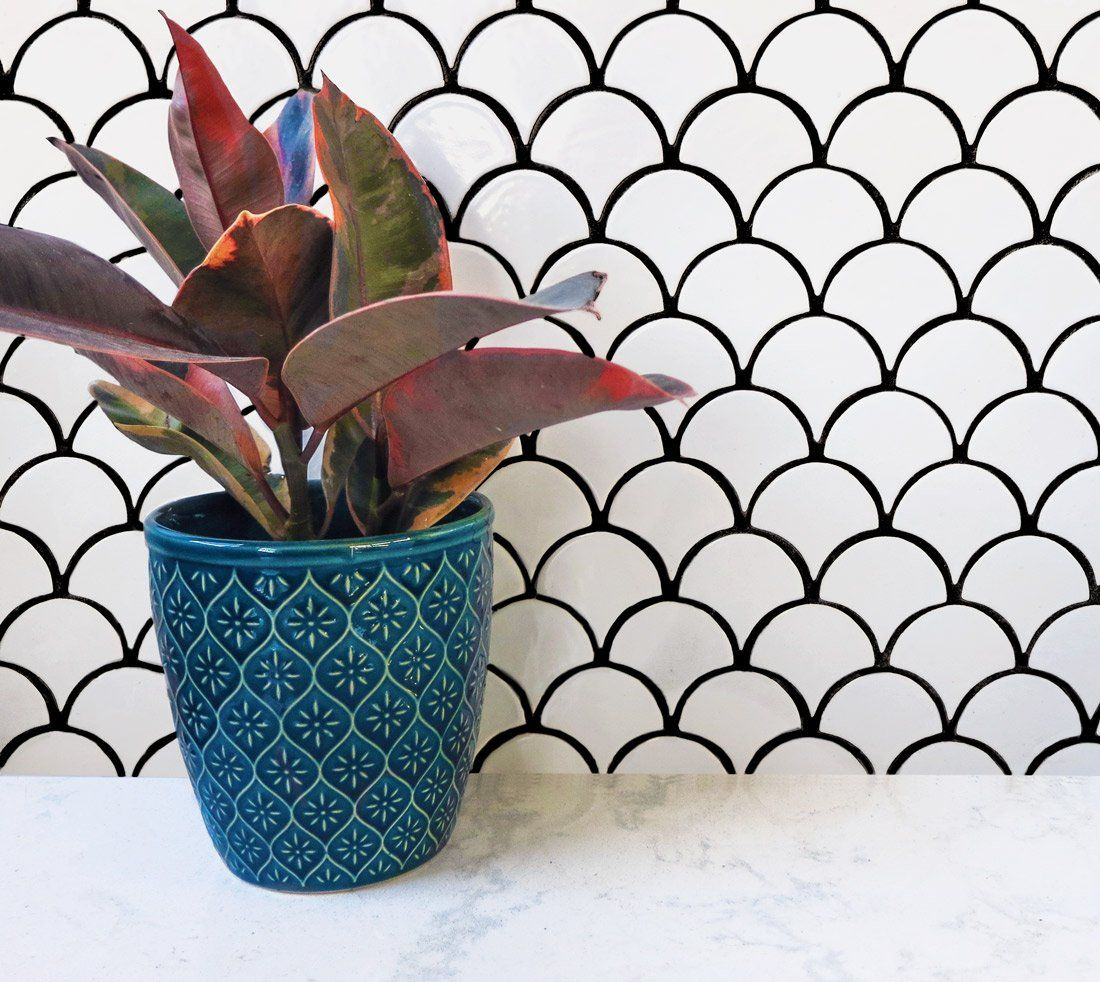 5 Ways To Use Black And White Tile Black And White Tiles Black And White Backsplash White Tiles Black Grout