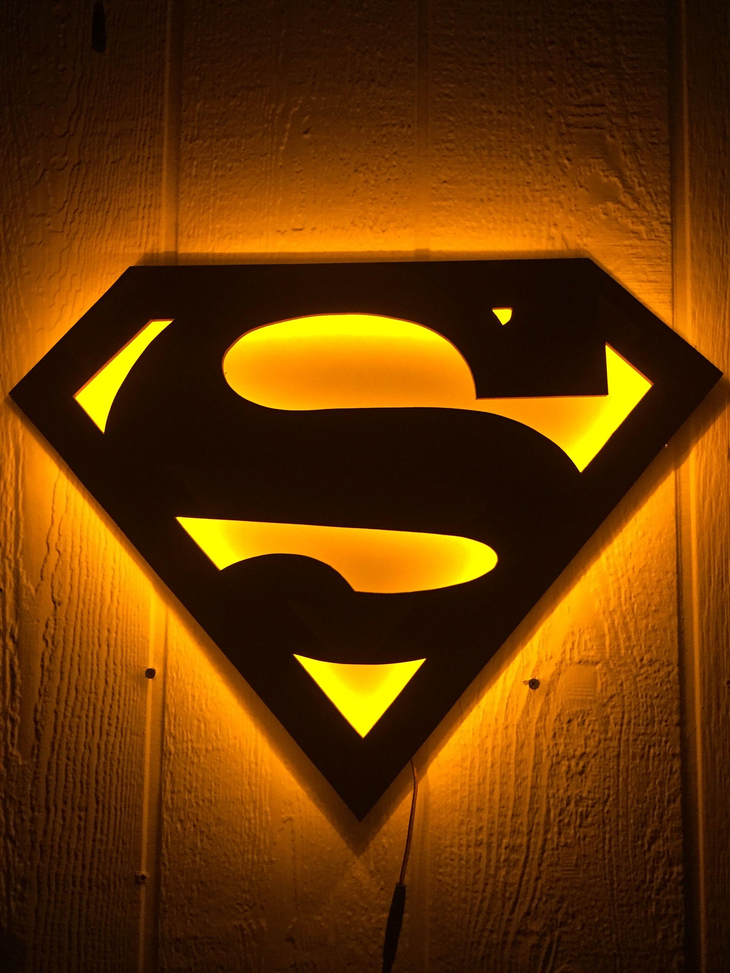 Superman Logo Nightlight   Superman artwork, Superman ...