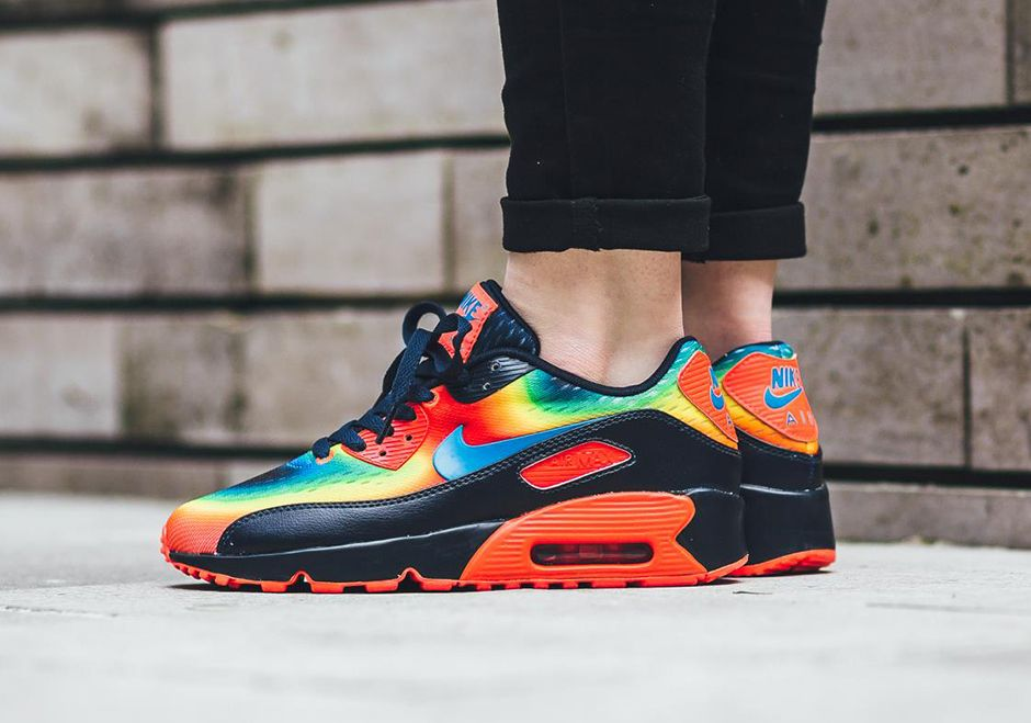 Details about Nike Air Max 90 (GS) Infrared Volt B