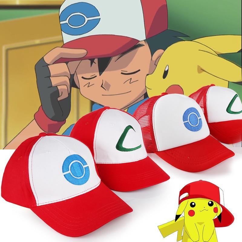 Pokemon Trainer Pokemon GO  Halloween Costume// Cosplay  USA Ash Ketchum Hat